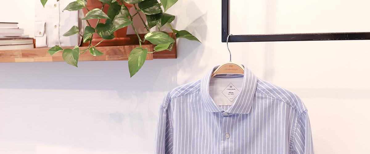 chemise homme ambiance rayures bleu