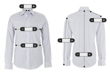 mesures d'une chemise sur mesure en ligne