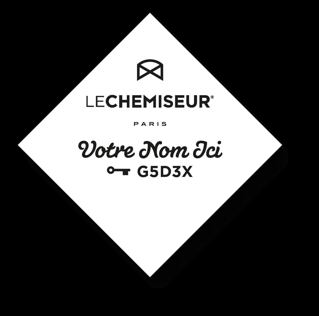 Logo clé de coupe LE CHEMISEUR® etiquette col