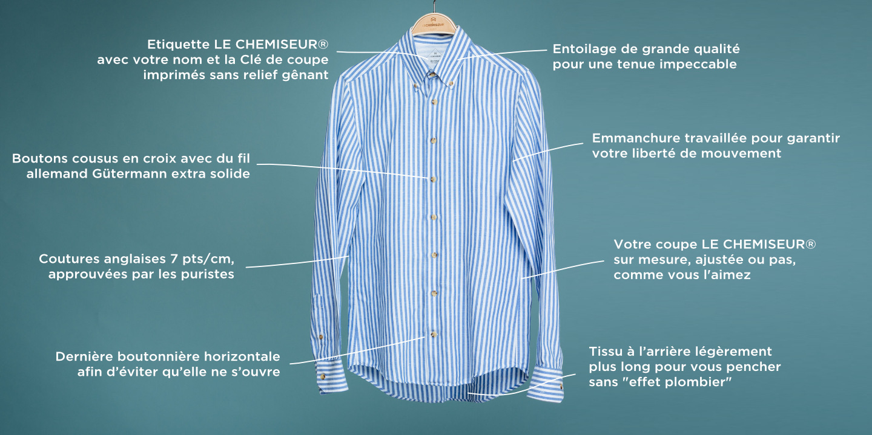 le chemiseur chemises de qualit haut de gamme. Black Bedroom Furniture Sets. Home Design Ideas