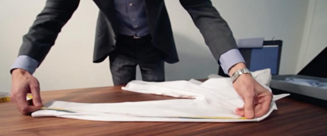 mesures longueur manches d'une chemise sur mesure