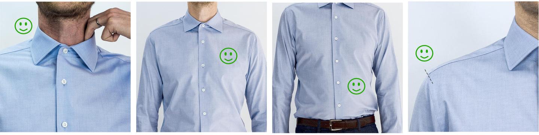 ajustements sur une chemise sur mesure homme