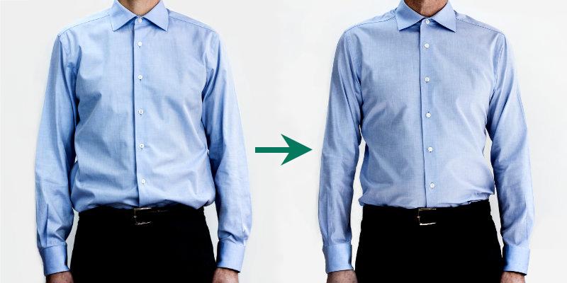 ajustement chemises homme sur mesure