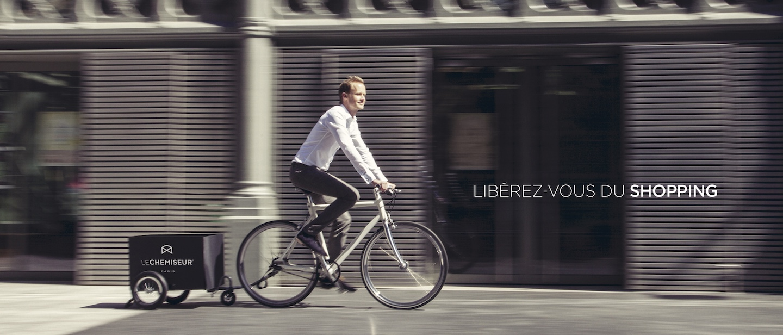 chemise sur mesure à Paris livrée en Vélo