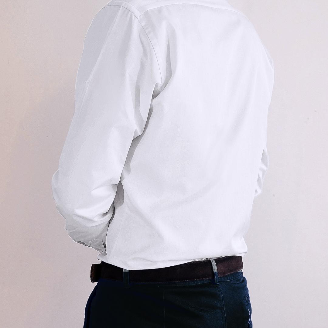 chemise homme sur mesure blanc