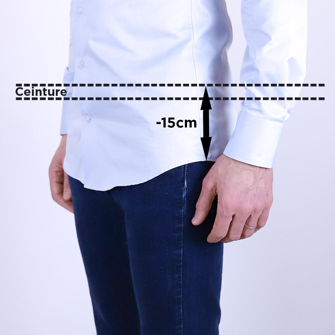 chemise homme longueur dos