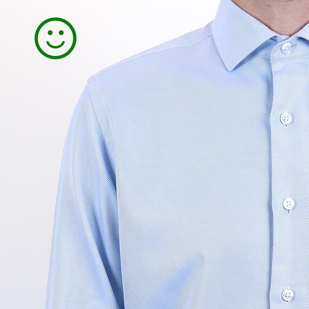 chemise homme largeur épaules