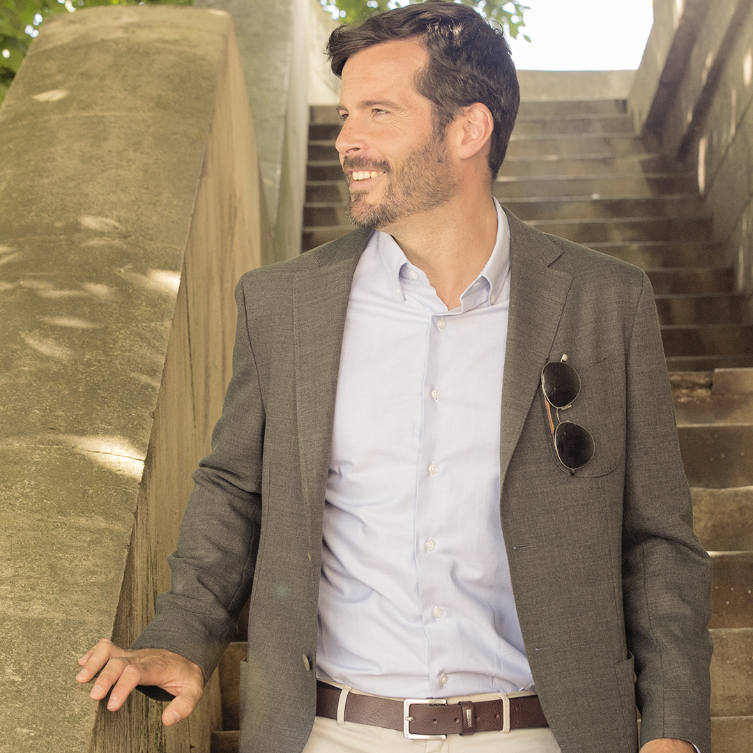 chemise homme oxford bleu