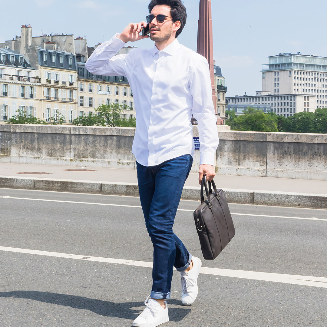 chemise homme blanche facile a repasser