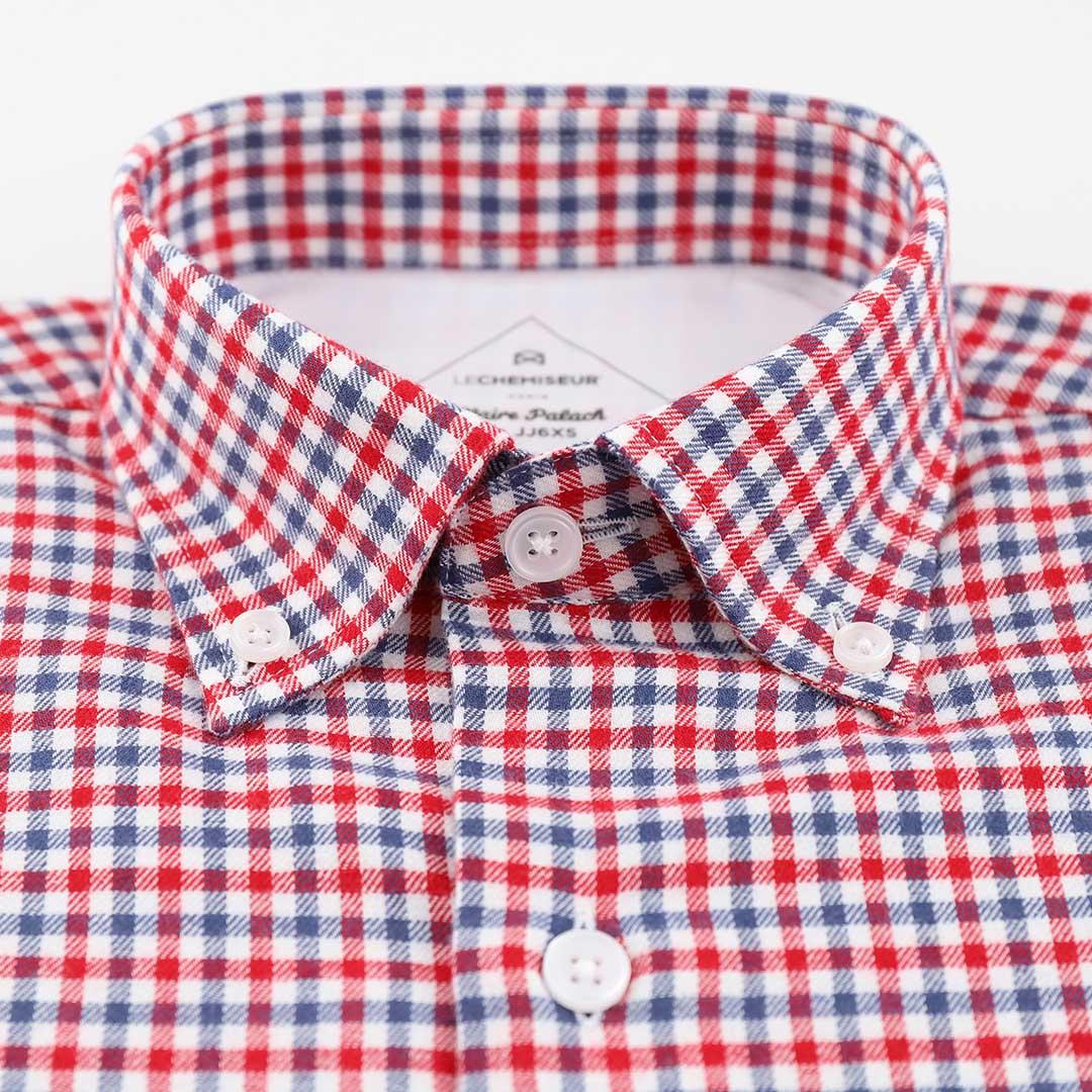 chemise flanelle homme a carreaux rouges bleus blancs