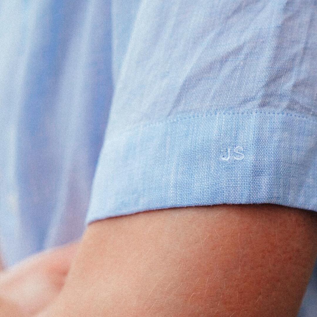 chemisette homme été bleu