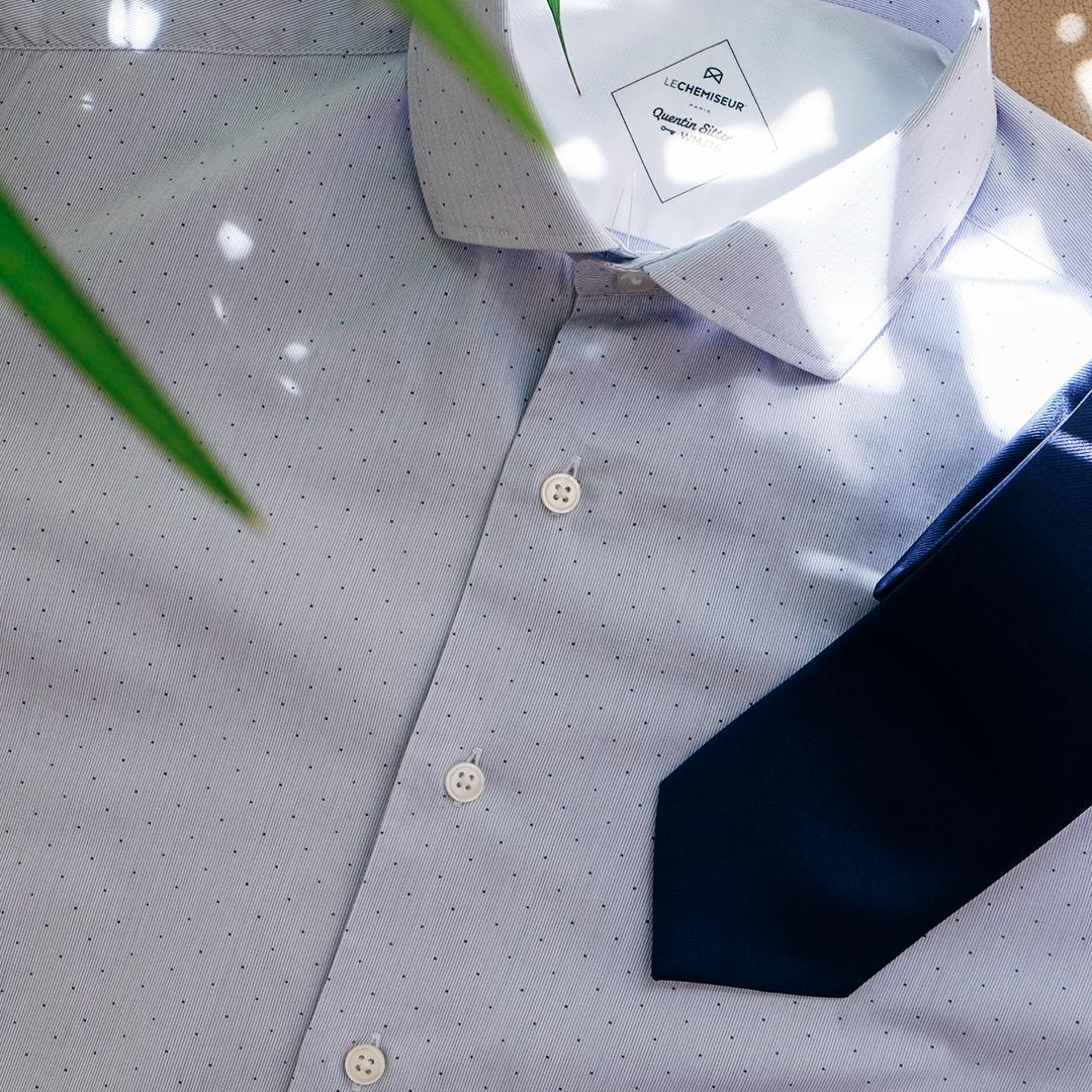 chemise homme motif avec cravate