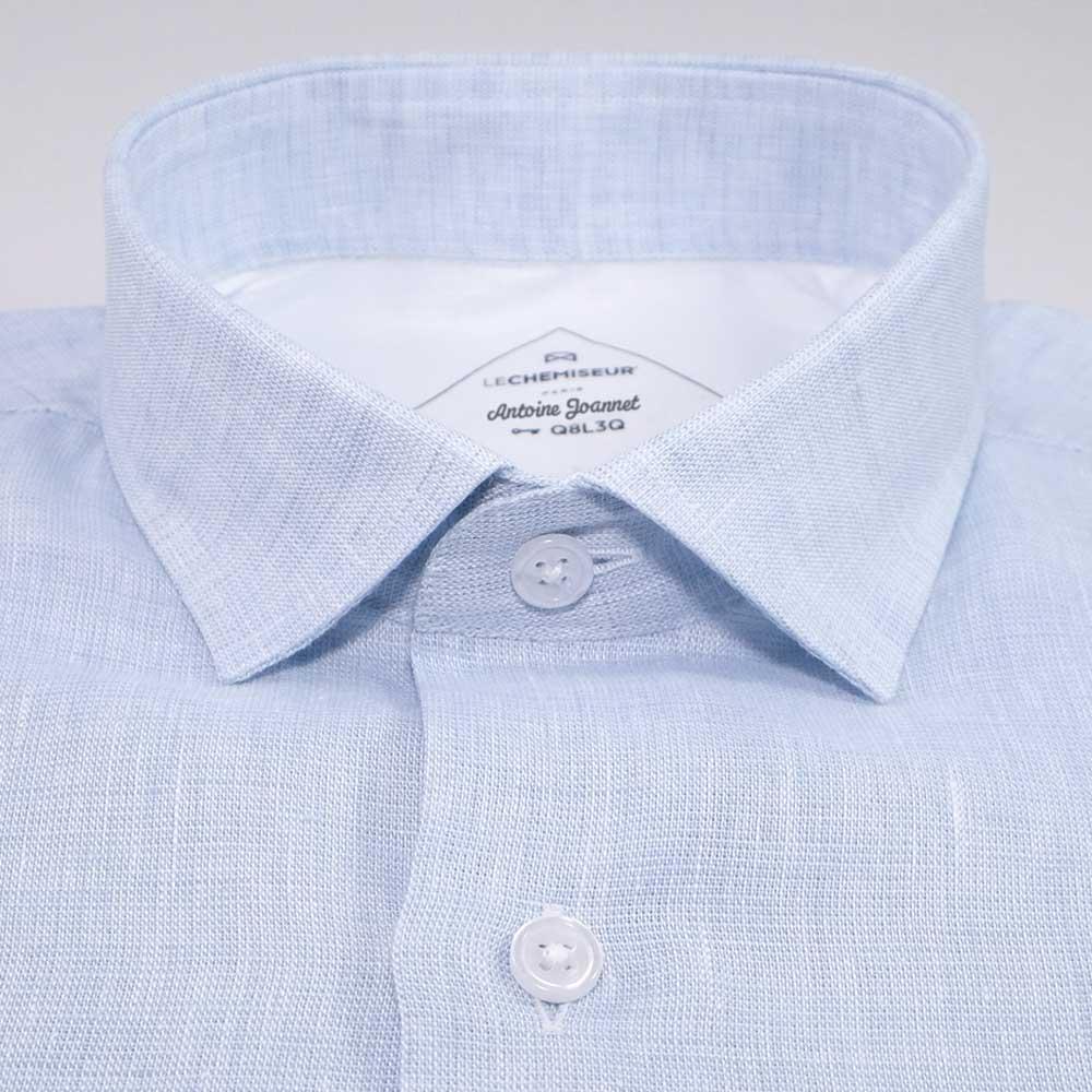chemisette homme bleu