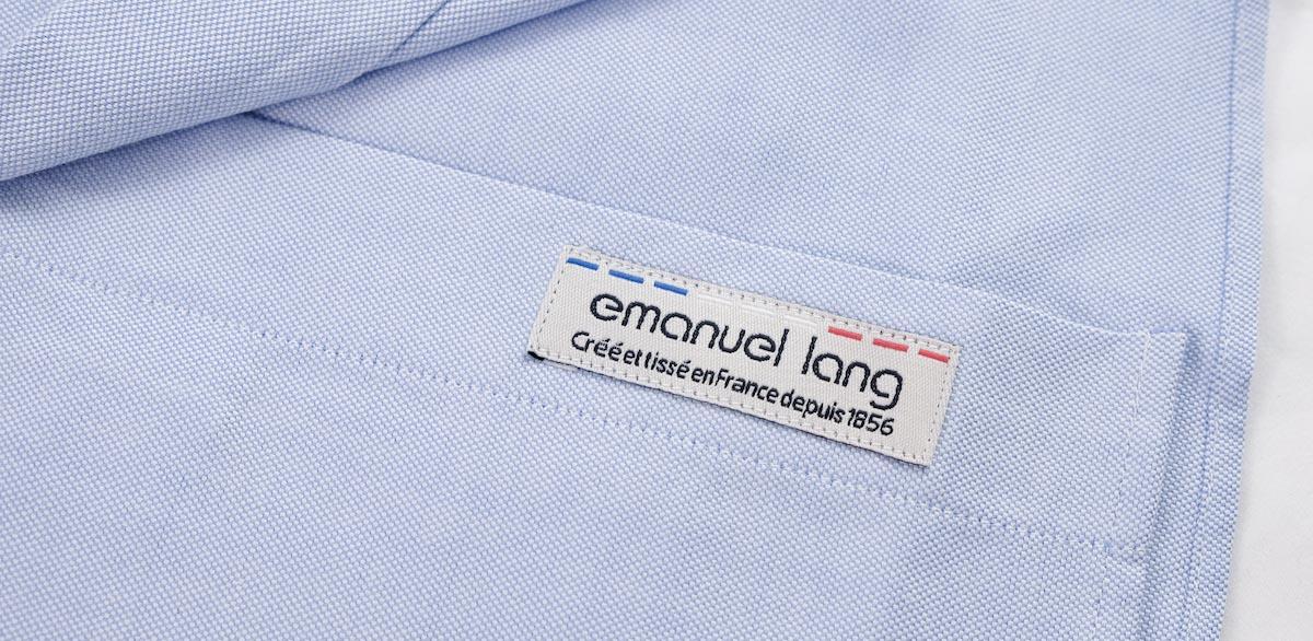 chemise homme bleu emmanuel lang