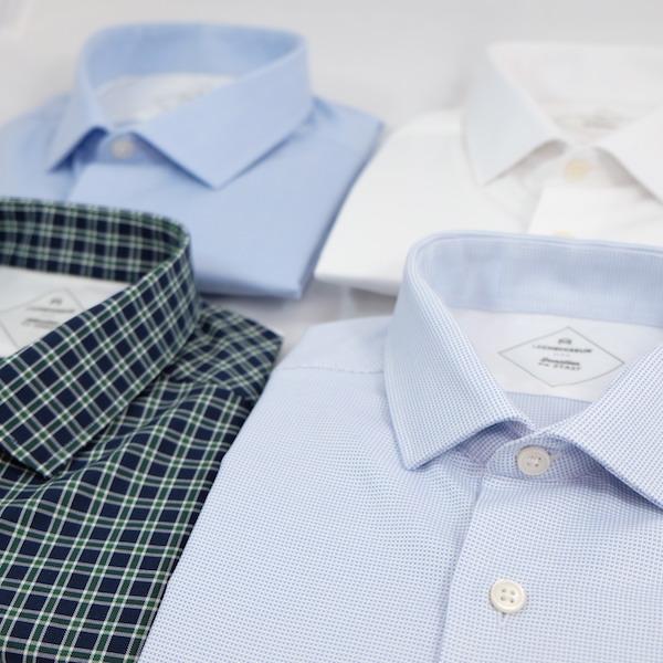 messages personnels dans cols de chemises sur mesure