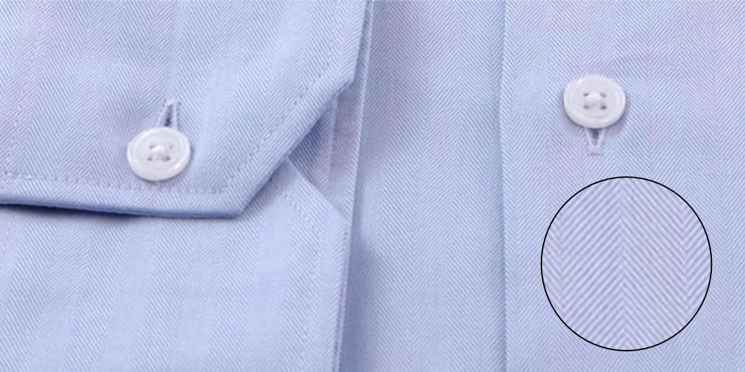 Tissage chemise twill-chevrons