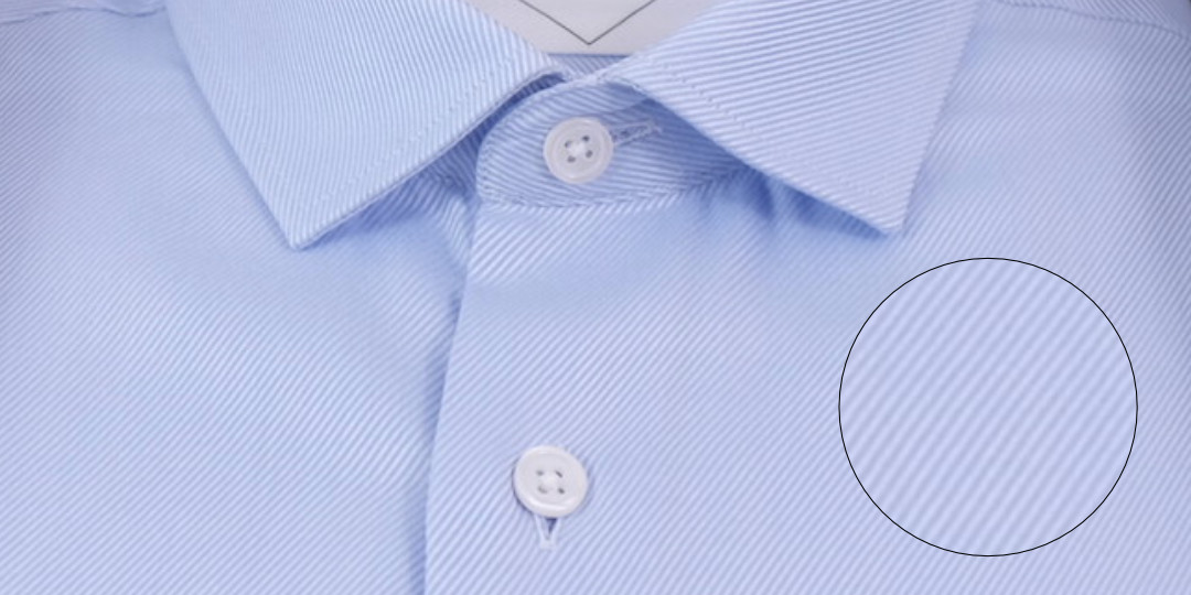 Tissage chemise twill bleu effet fil à fil