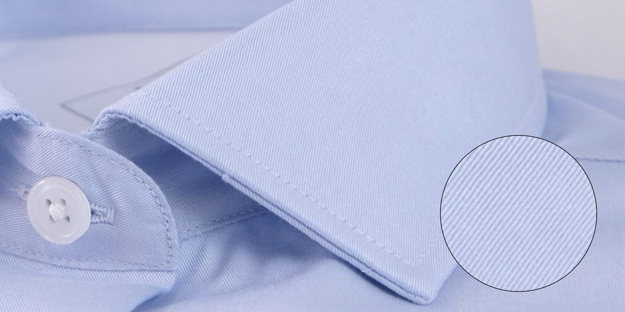 Tissage chemise Twill bleu