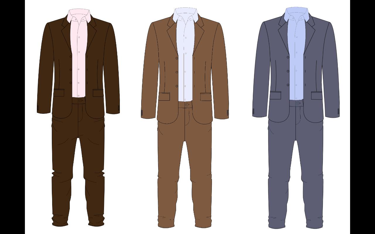 assortir costume et chemise homme roux