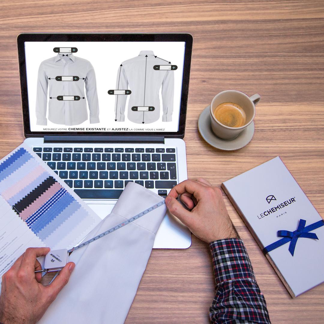 id e cadeau pour homme offrir une chemise sur mesure. Black Bedroom Furniture Sets. Home Design Ideas