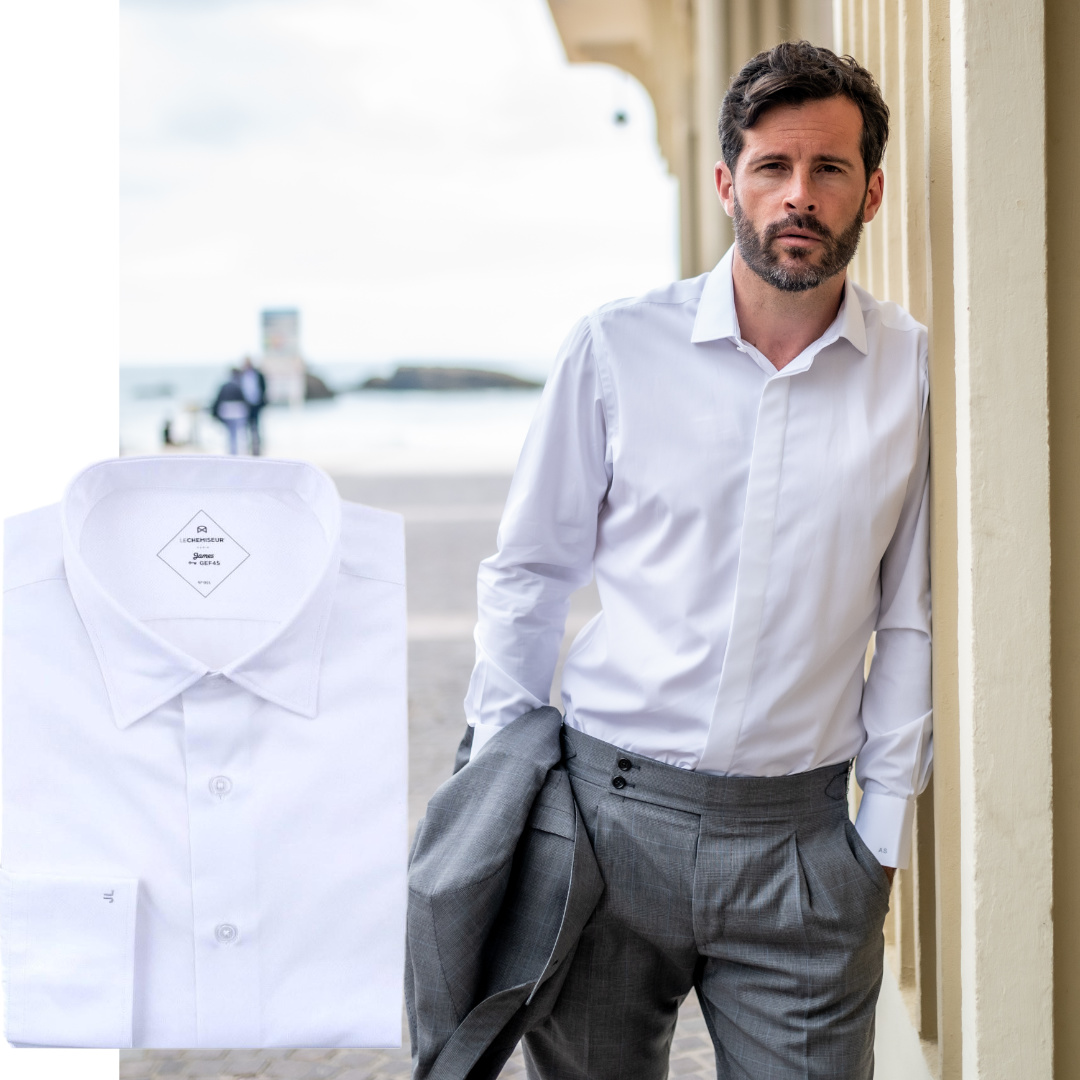 chemise homme popeline fine italienne sur mesure