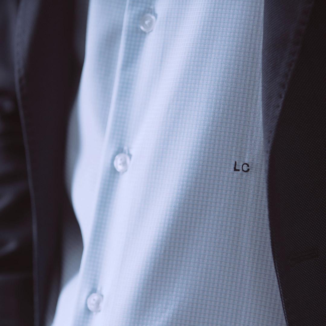 chemise homme carreaux initiales