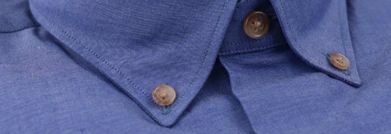 chemise homme chambray bleu  détails