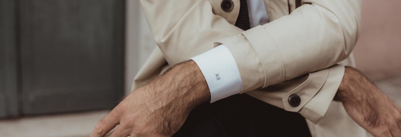 chemise homme oxford facile à repasser initiales poignets