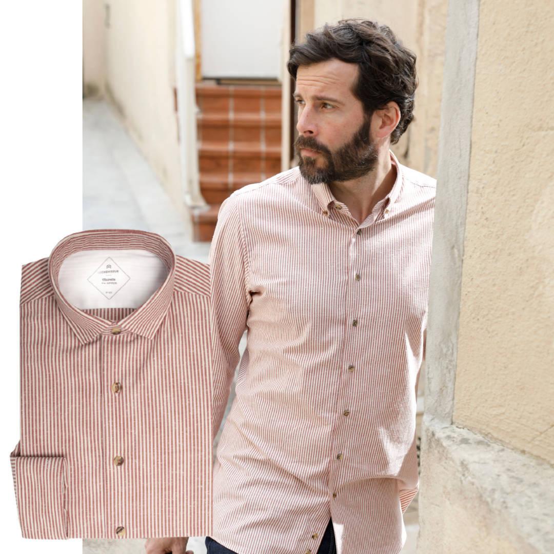 chemise homme moucheté