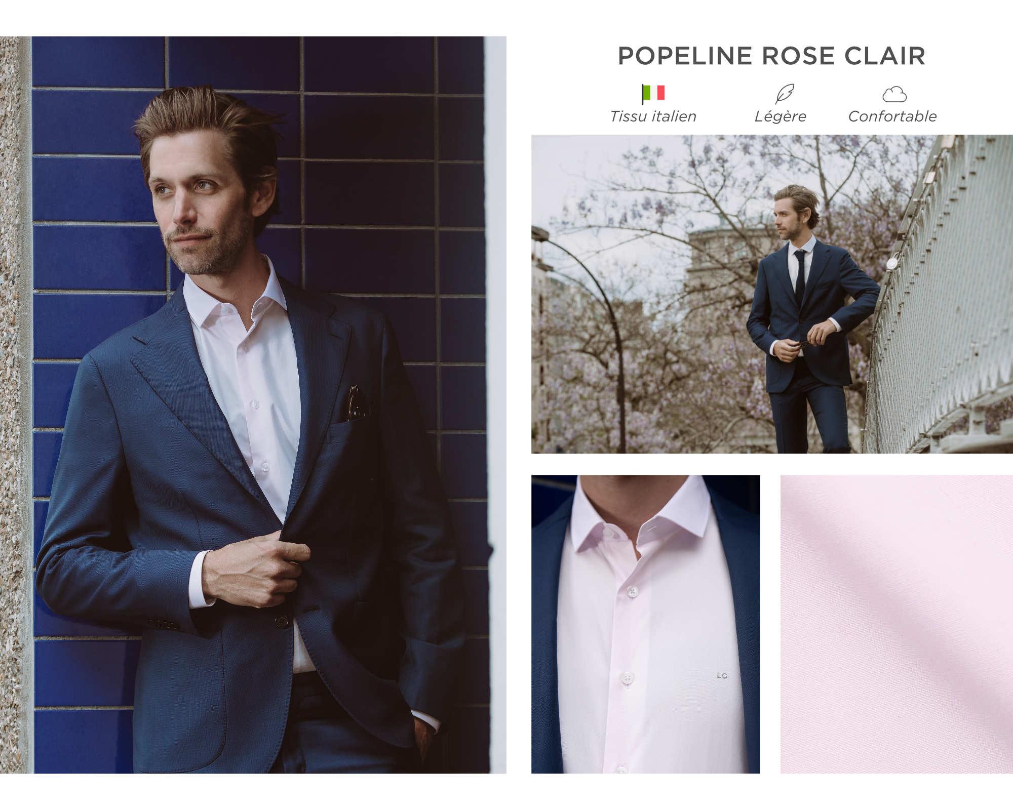 chemise homme rose