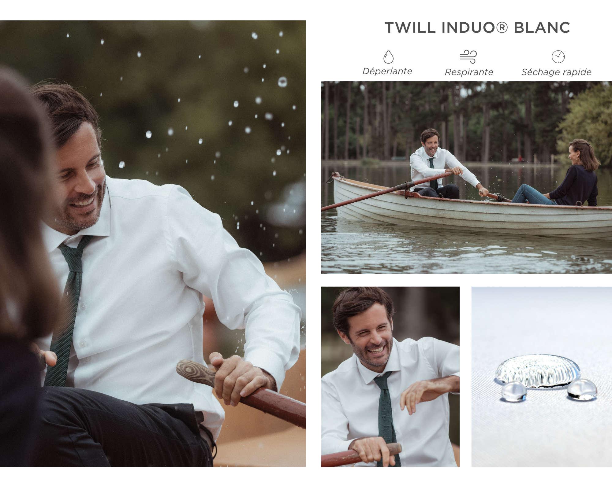 chemise homme blanc induo