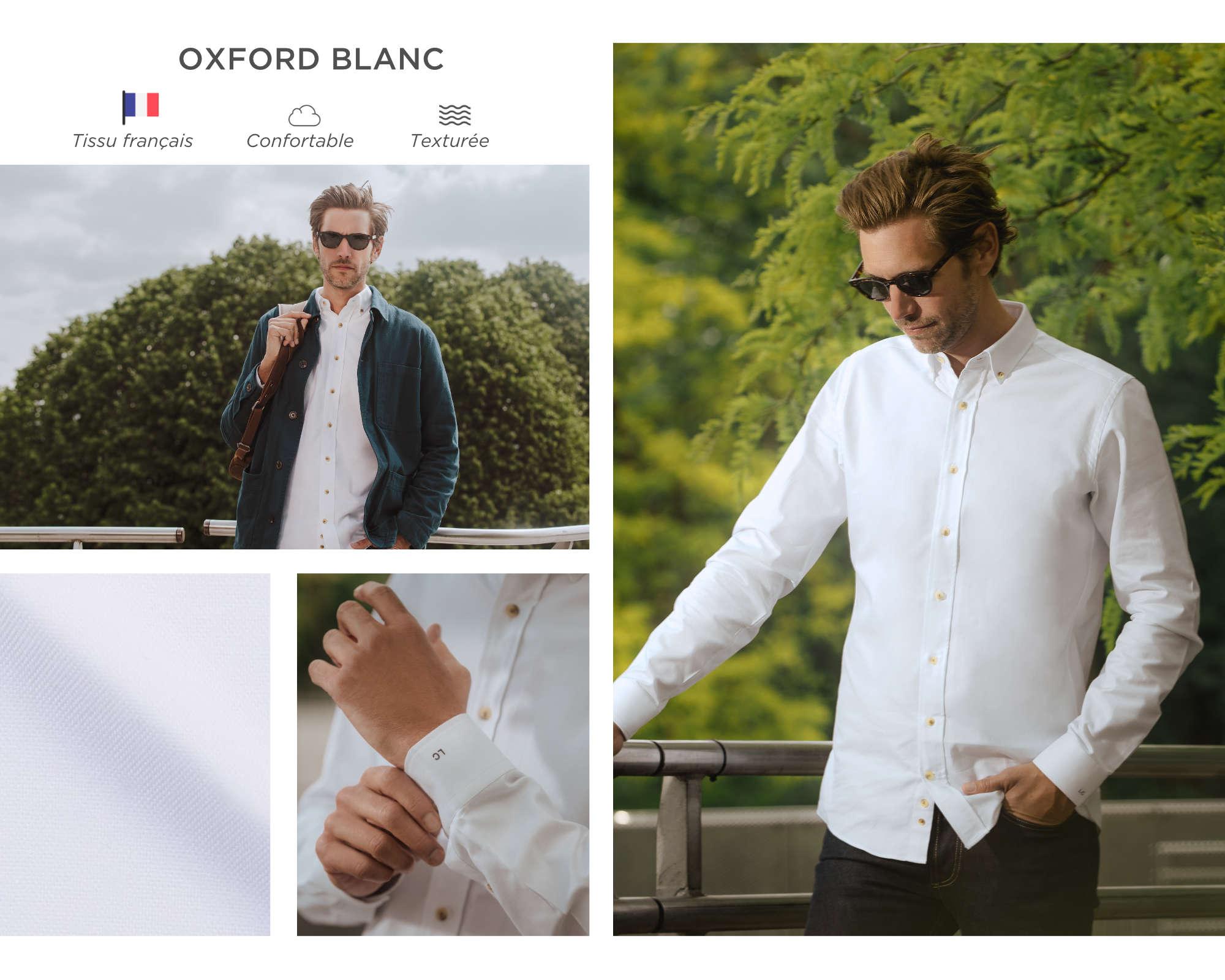 chemise homme oxford français blanc