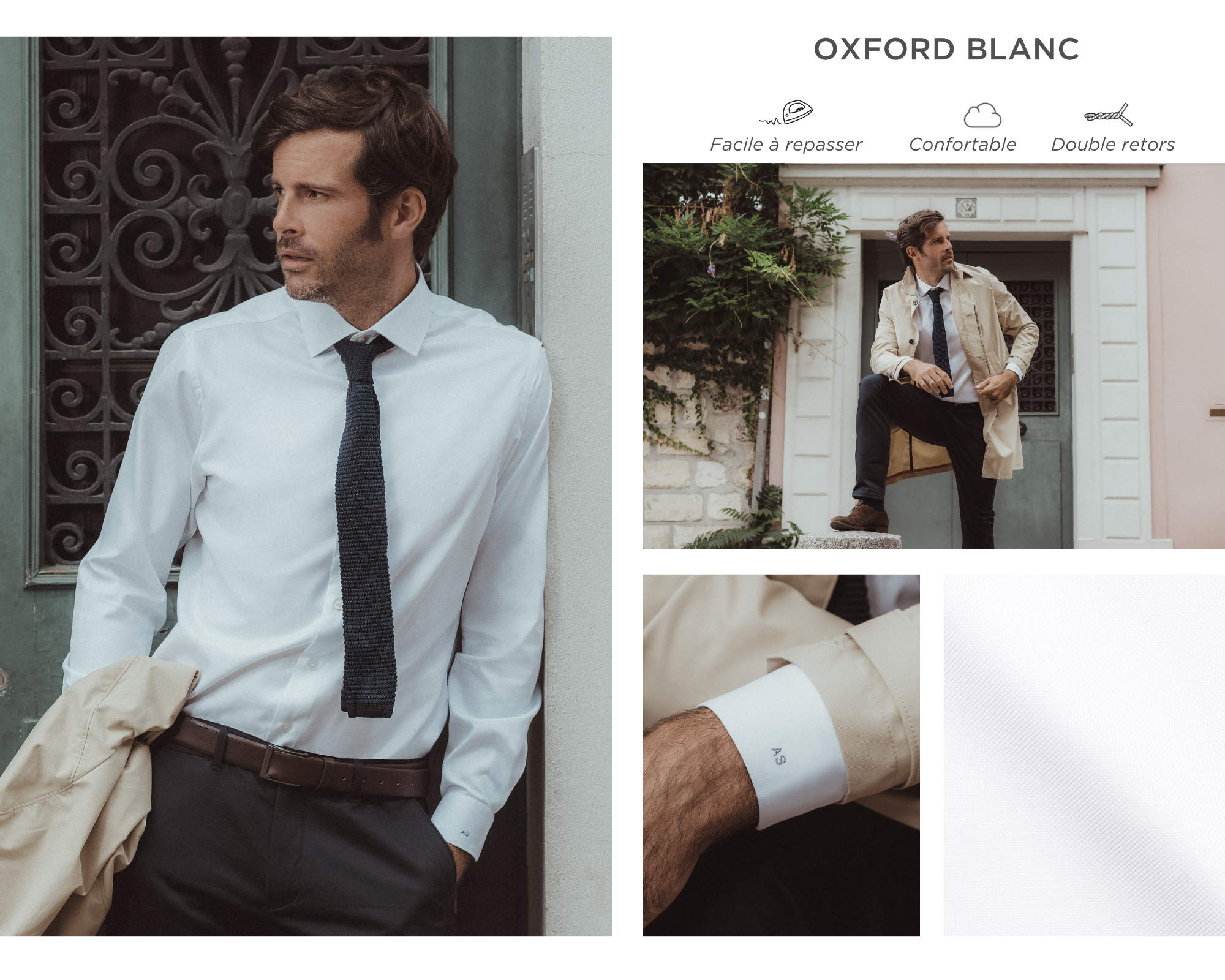 chemise homme oxford blanc