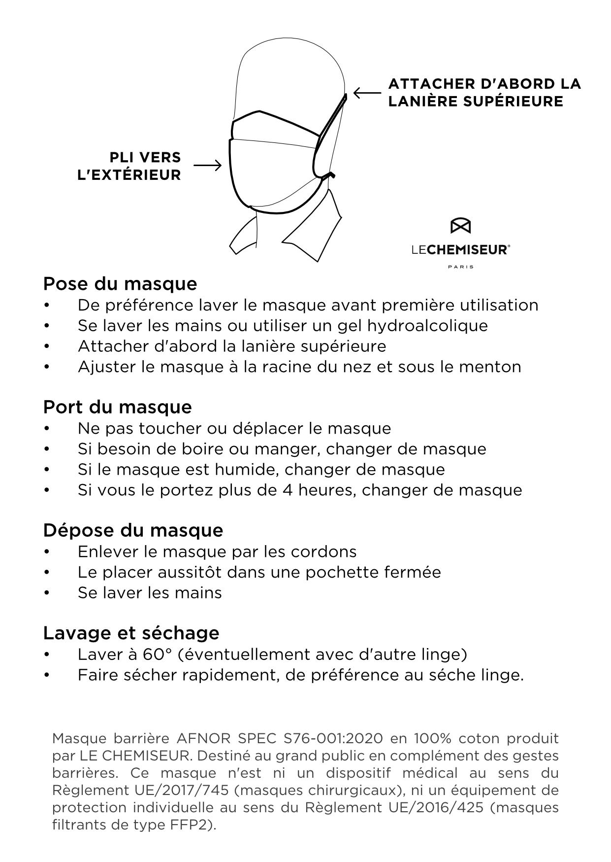 Comment utiliser un masque barrière covid-19
