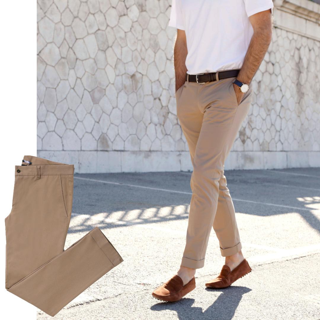 pantalon homme sur mesure chino beige