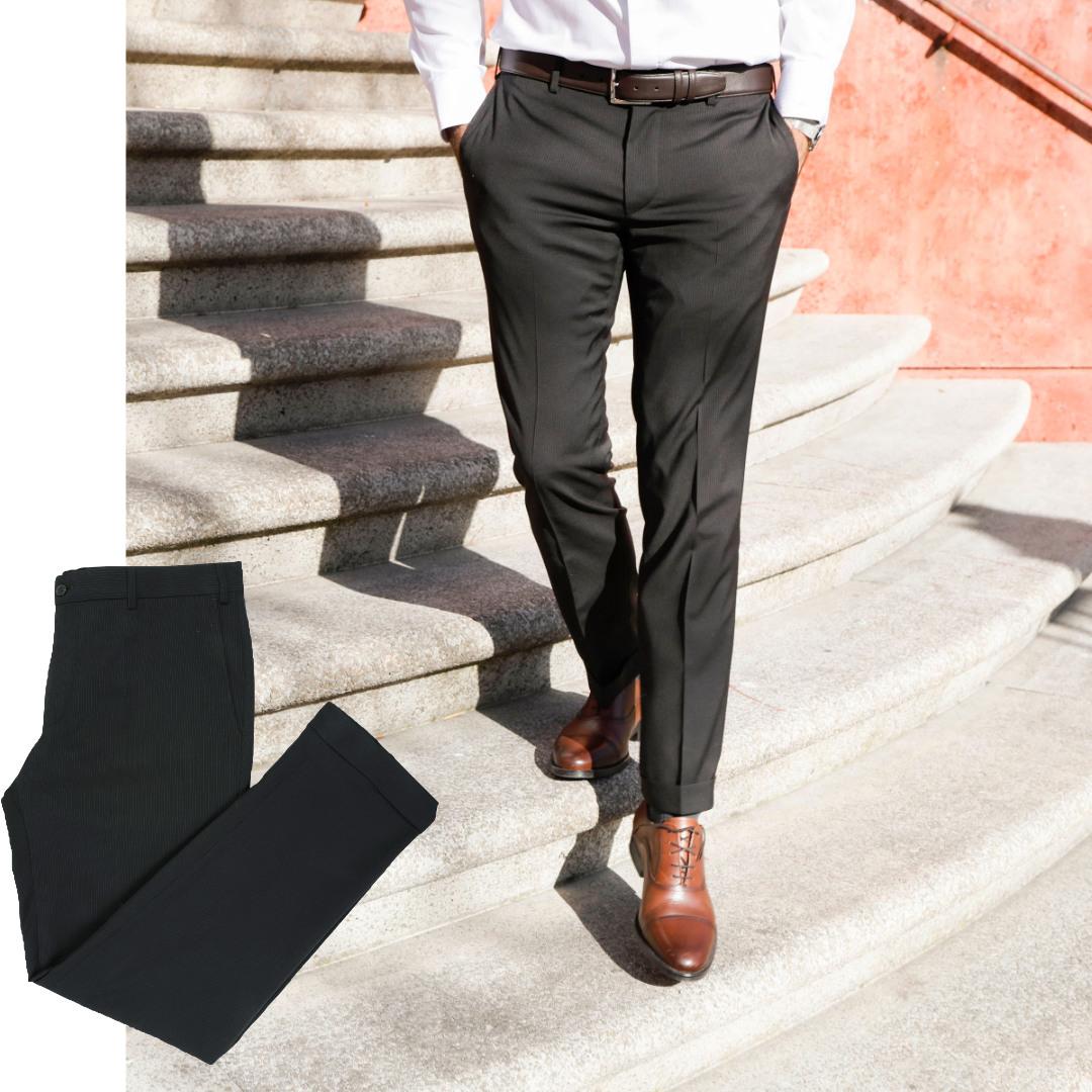 pantalon homme sur mesure smart élégant marron glacé