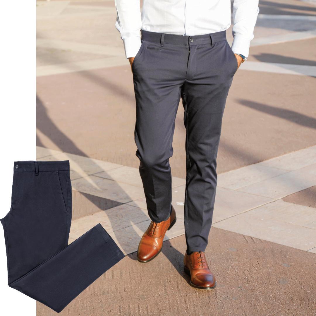 pantalon homme chino pretium bleu marine