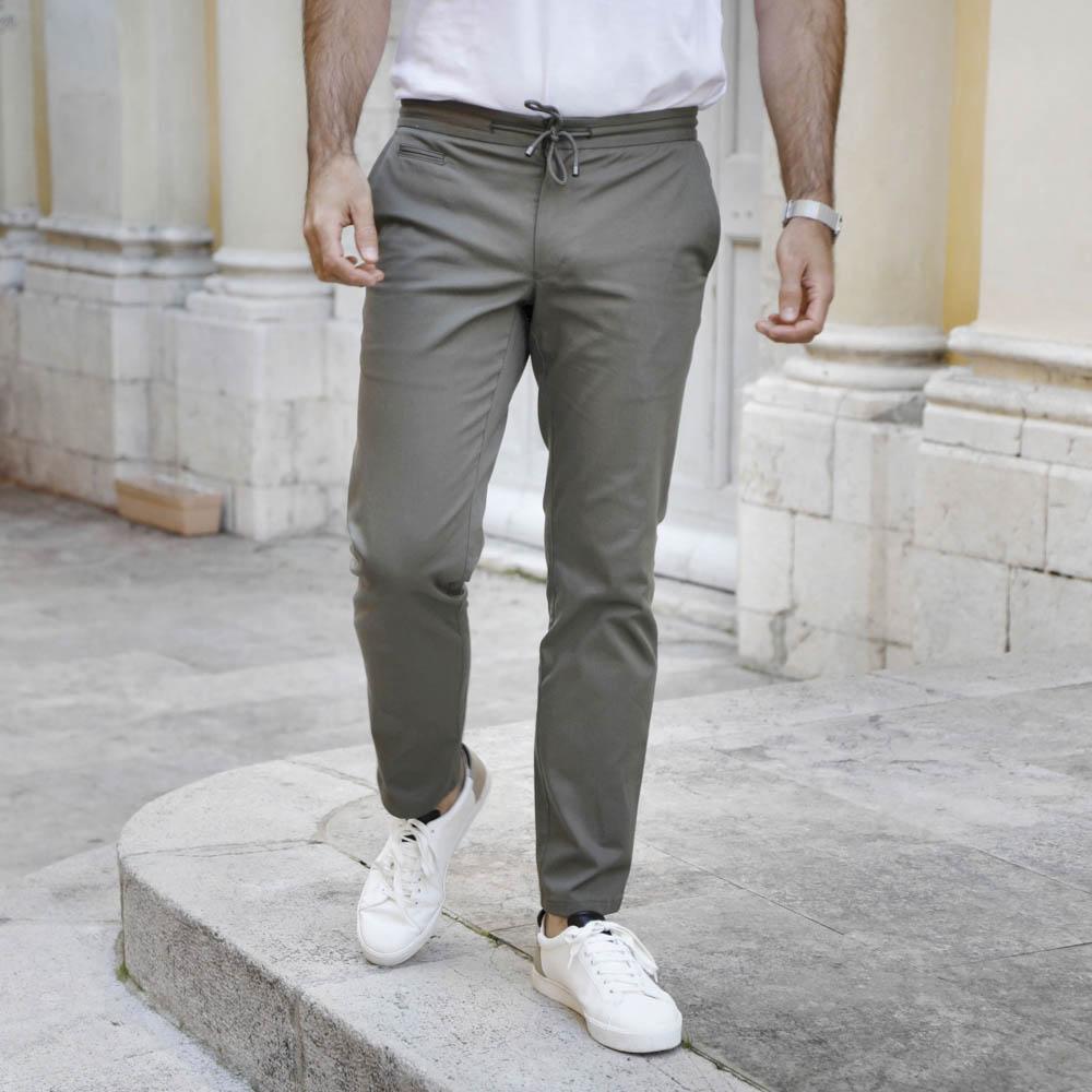 pantalon homme chino kaki tendance