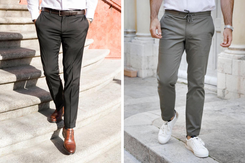 samrt chino pantalon habillé décontracté stretch
