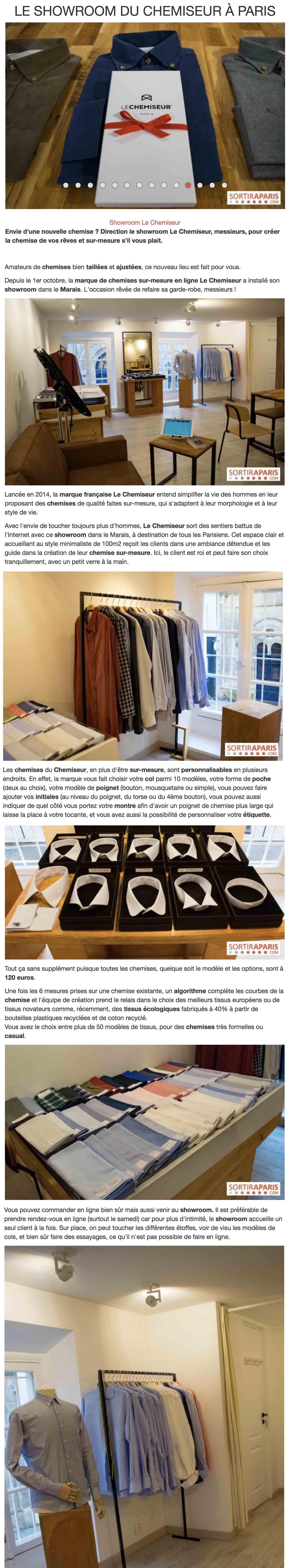 bfdfe124254 03 10 2018 - Envie d une nouvelle chemise   Direction le showroom LE  CHEMISEUR®
