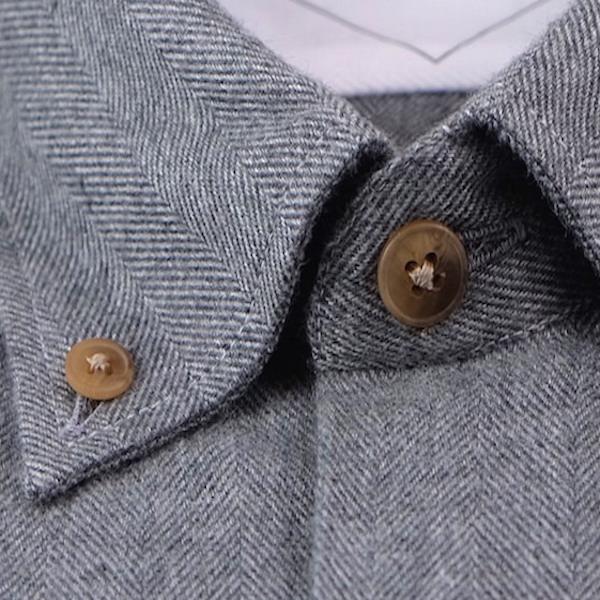 col chemise flanelle de qualité