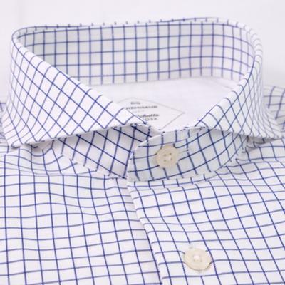 Chemises carreaux bleus foncés