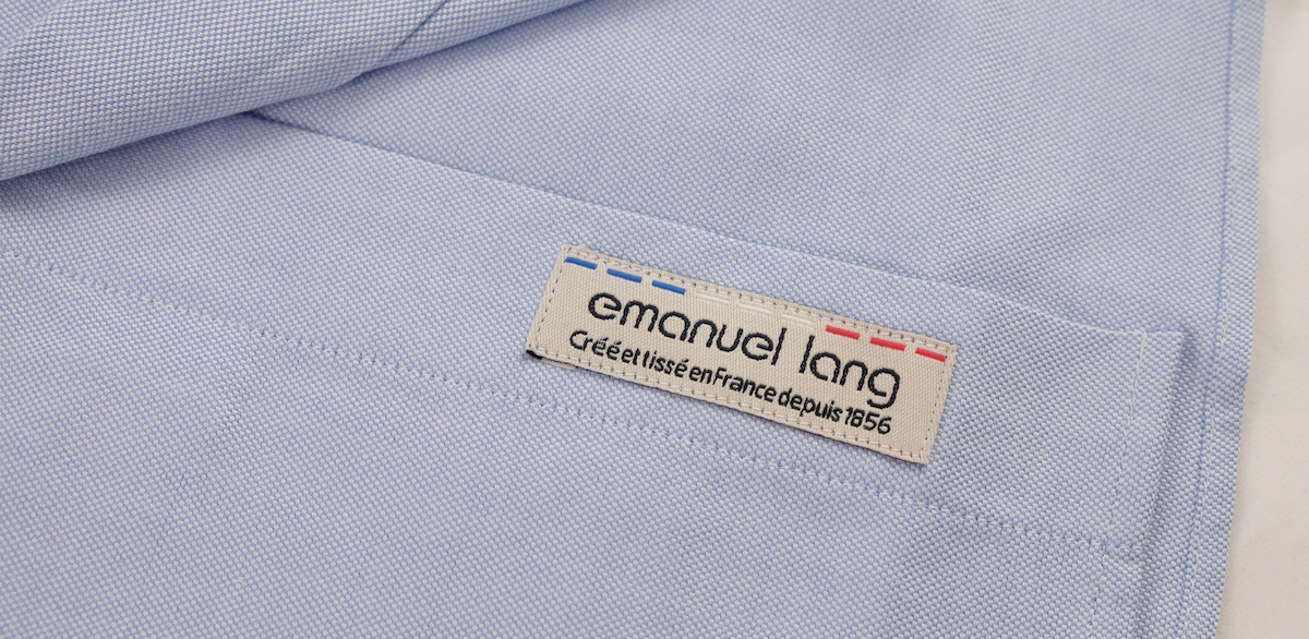 etiquette chemise oxford