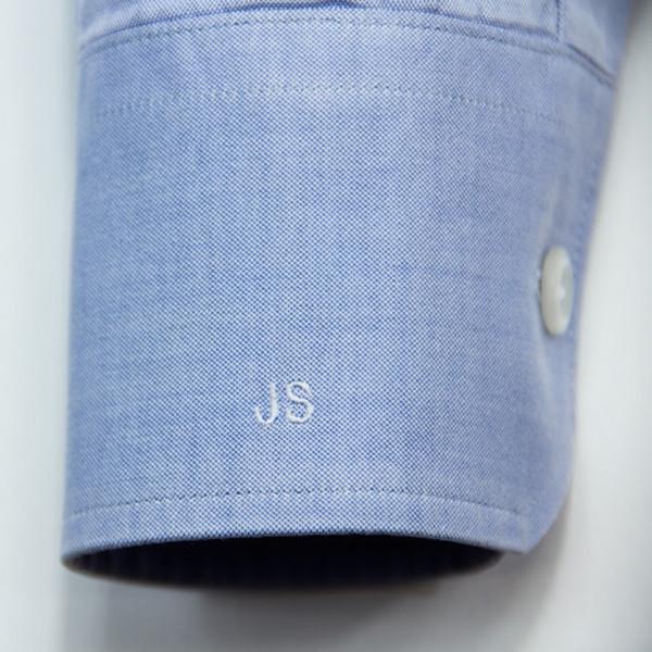 poignet de chemise de qualité avec initiales