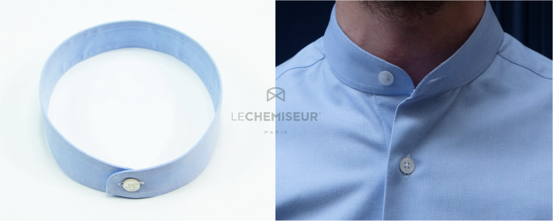 Col Mao - Col Officier chemise homme minimaliste