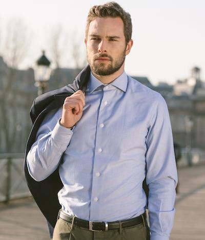 chemise homme blanche traffic rue paris