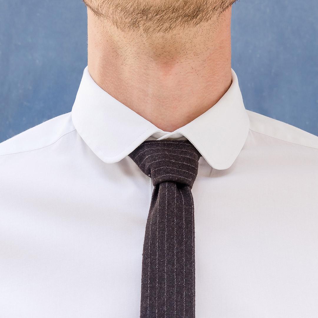 chemise homme sur mesure col rond