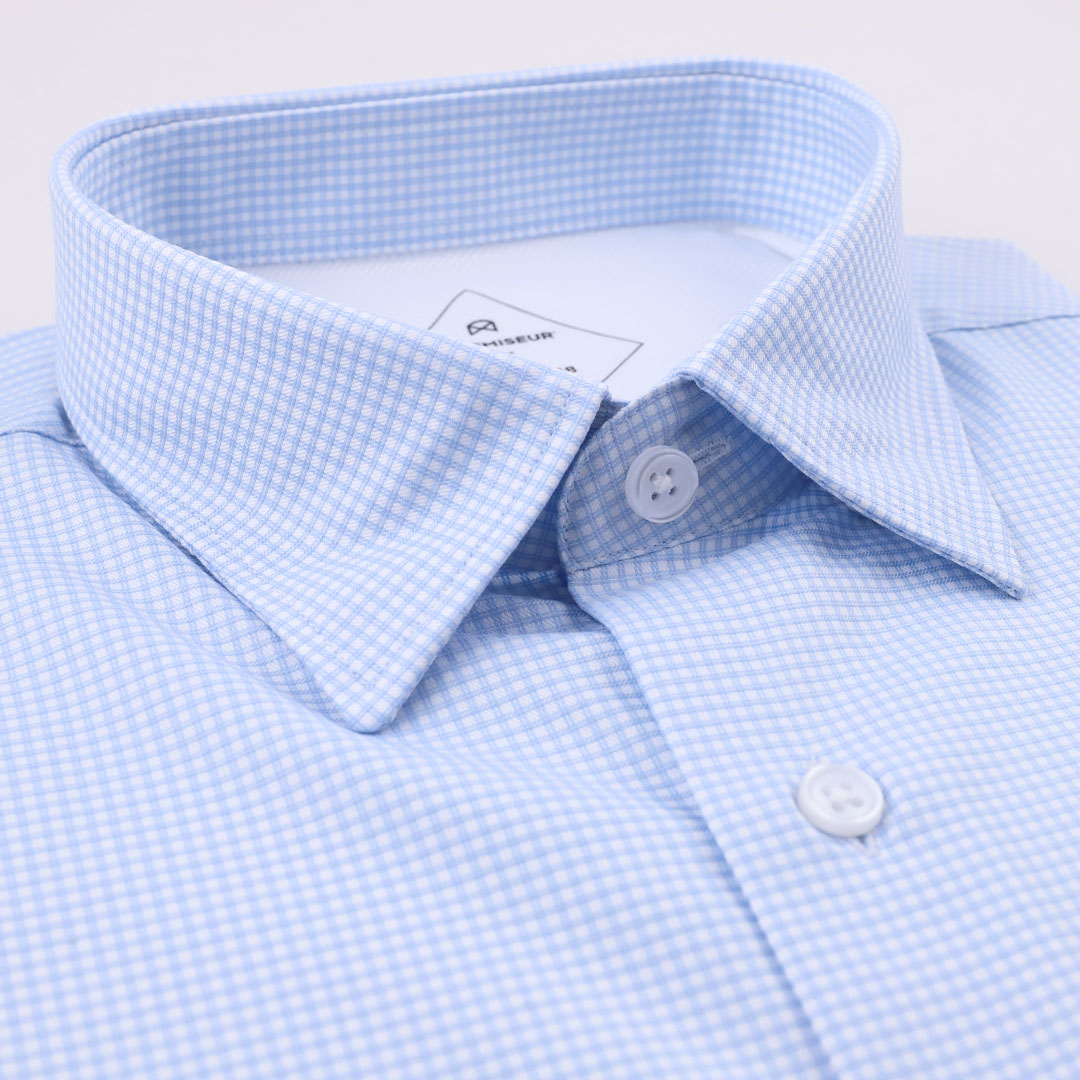 chemise homme à carreaux bleu
