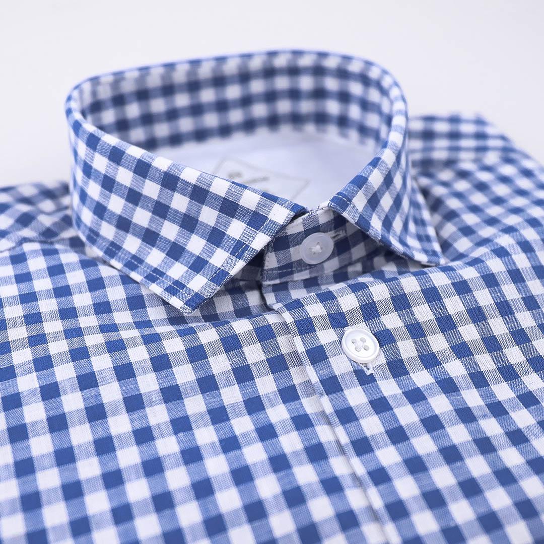 chemise homme carreaux bleu