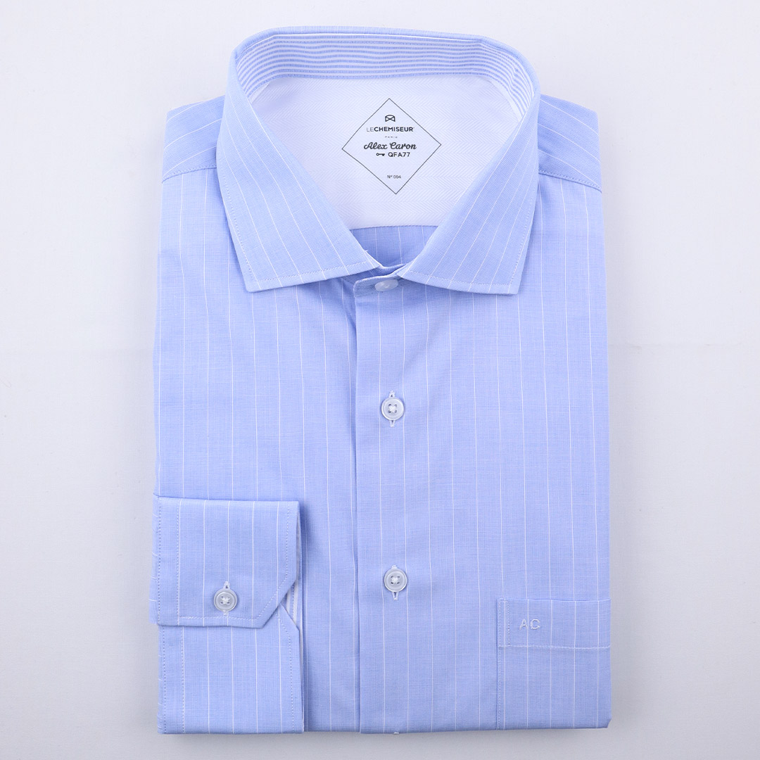 chemise homme rayures initiales